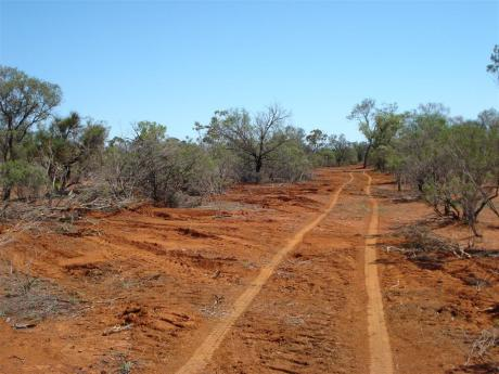 A typical outback road.  Just joking.  Really.