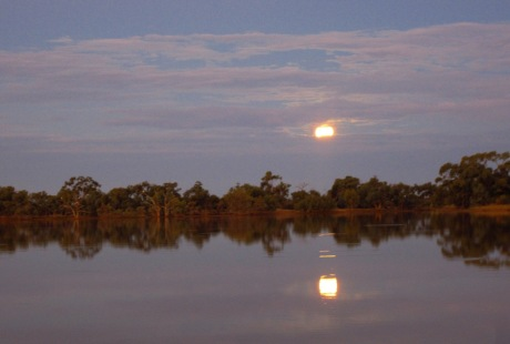 Full moon rising over Cardenyabba Lagoon.